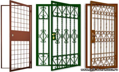 двери металлические входные решетки